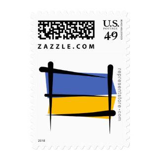 Ukraine Brush Flag Postage Stamps