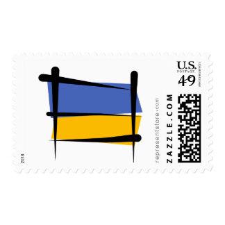 Ukraine Brush Flag Stamp