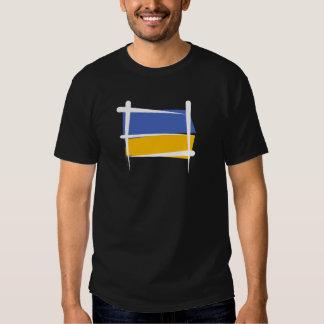Ukraine Brush Flag T Shirt