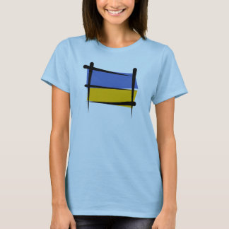 Ukraine Brush Flag T-Shirt