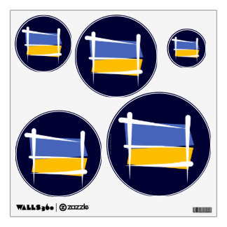 Ukraine Brush Flag Wall Sticker