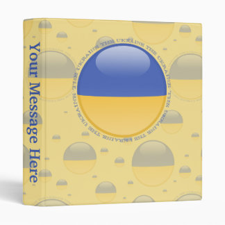 Ukraine Bubble Flag 3 Ring Binder