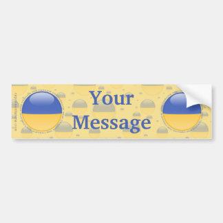 Ukraine Bubble Flag Bumper Sticker