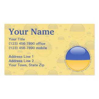 Ukraine Bubble Flag Business Card