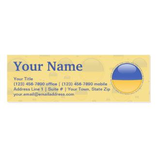 Ukraine Bubble Flag Business Card Template