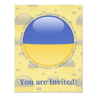 Ukraine Bubble Flag Card