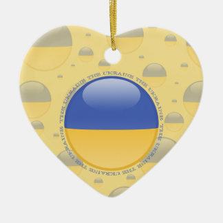 Ukraine Bubble Flag Ceramic Ornament