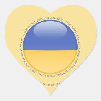 Ukraine Bubble Flag Heart Sticker