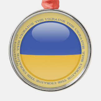 Ukraine Bubble Flag Metal Ornament