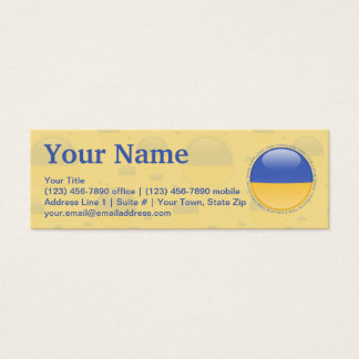 Ukraine Bubble Flag Mini Business Card