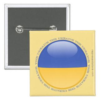 Ukraine Bubble Flag Pinback Button