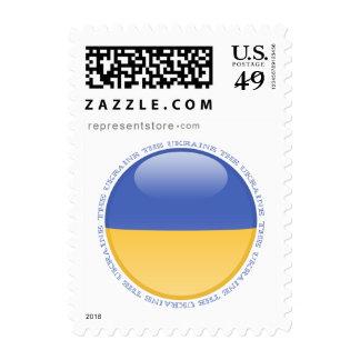 Ukraine Bubble Flag Postage Stamps