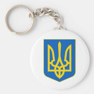 Ukraine COA Basic Round Button Keychain