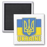 Ukraine Coat of Arms 2 Inch Square Magnet