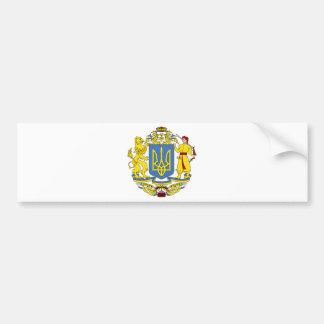 Ukraine coat of arms car bumper sticker