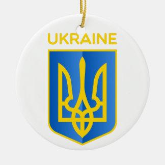 Ukraine coat of arms christmas tree ornaments