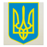 Ukraine Coat of Arms detail Poster