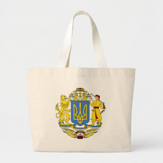 Ukraine coat of arms large tote bag