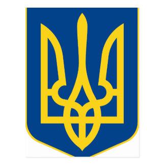 Ukraine Coat of Arms Postcard