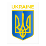 Ukraine coat of arms postcards