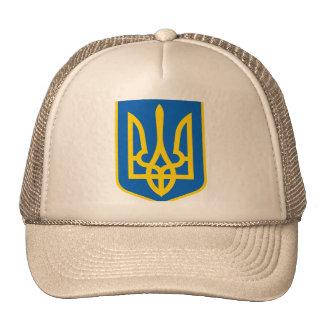 UKRAINE COAT OF ARMS TRUCKER HAT
