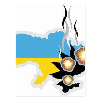 Ukraine conflict vector postcard