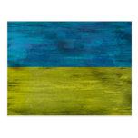 Ukraine distressed flag post card