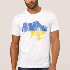 Ukraine Distressed Shirt at Zazzle