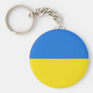 Ukraine Fisheye Flag Keychain