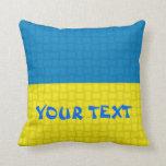 Ukraine Flag: ADD TEXT Throw Pillow