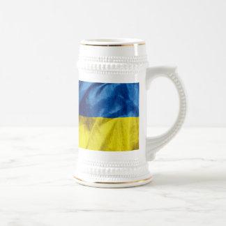 Ukraine Flag Beer Stein