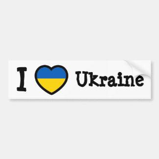 Ukraine Flag Car Bumper Sticker