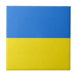 Ukraine Flag Ceramic Tile
