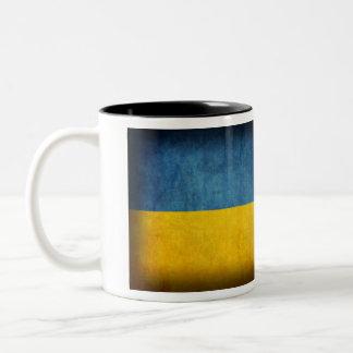 Ukraine Flag Distressed Mug