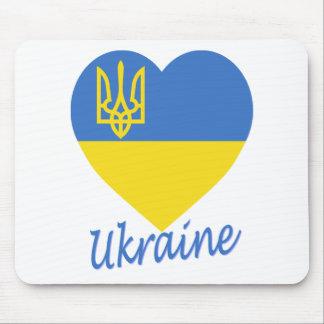 Ukraine Flag Heart Mouse Pad