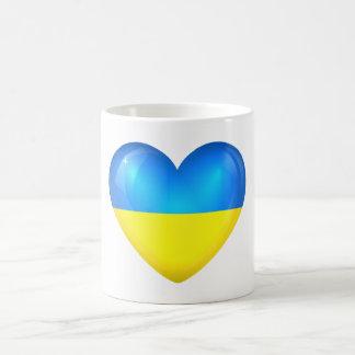 Ukraine Flag Heart Mug