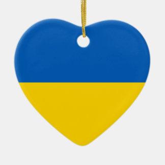 Ukraine Flag Heart Ornament