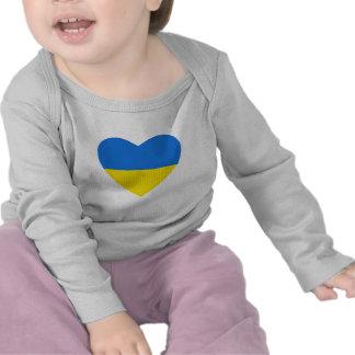 Ukraine Flag Heart T-Shirt