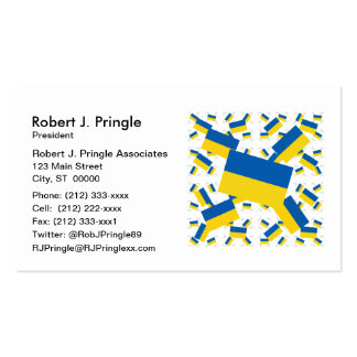 Ukraine Flag in Multiple Colorful Layers Askew Business Cards