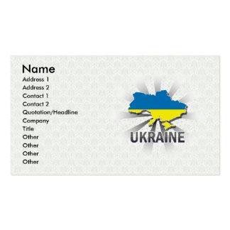 Ukraine Flag Map 2.0 Business Card Templates