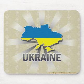 Ukraine Flag Map 2.0 Mouse Pad
