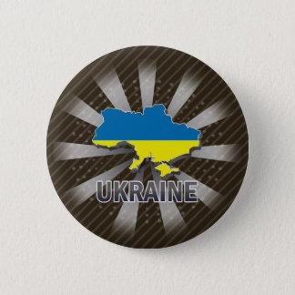 Ukraine Flag Map 2.0 Pinback Button