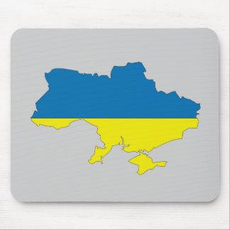 Ukraine flag map mouse pad