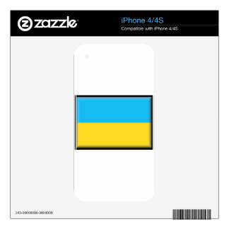 Ukraine Flag Decals For The iPhone 4
