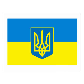 Ukraine Flag w COA Postcard