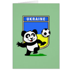 Greeting Card with Ukraine Football Panda design