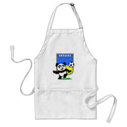 Apron with Ukraine Football Panda design