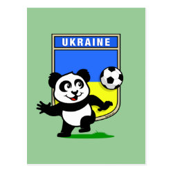 Postcard with Ukraine Football Panda design