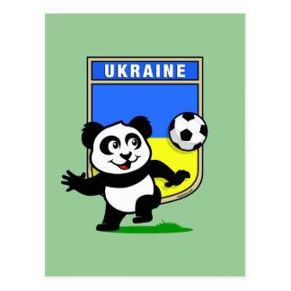 Ukraine Football Panda Postcard
