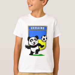Kids' Hanes TAGLESS® T-Shirt with Ukraine Football Panda design